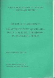 Caratterizzazione qualitativa delle acque del territorio di Anguillara V.ta