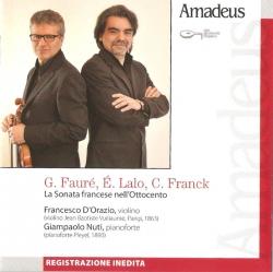 G. Fauré, E. Lalo, C. Franck : sonate per violino e pianoforte