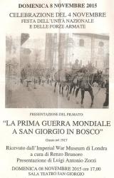 [La prima guerra mondiale a San Giorgio in Bosco]