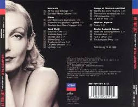 The best of Ute Lemper