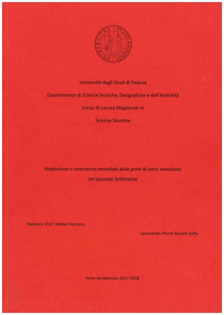 Produzione e commercio mondiale delle perle di vetro veneziane nel secondo Settecento